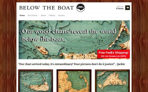 Screenshot of Home Page belowtheboat.com - Below the Boat - Below the Boat - captured Sept. 22, 2014