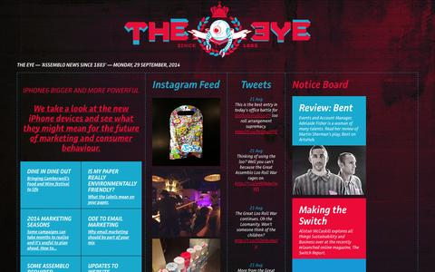 Screenshot of Press Page assemblo.com - THE EYE | News for Creative People - Assemblo / The Creative Agency - captured Sept. 30, 2014