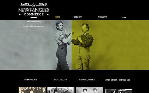 Screenshot of Home Page newfangledcommerce.com - Newfangled Commerce - captured June 19, 2017