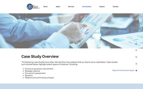 Screenshot of Case Studies Page dunngrp.com - Competitive Intelligence | United States | The Dunn Group, Inc. | Case Studies - captured Oct. 22, 2017