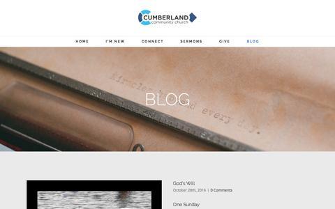 Screenshot of Blog cumberlandchurch.org - Blog – Cumberland Community Church - captured Nov. 14, 2016