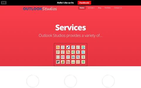 Screenshot of Home Page outlookstudios.com - Orlando Web Design - SEO - Social Media Service - Outlook Studios - captured Sept. 30, 2014