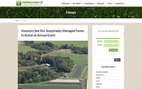 Screenshot of Press Page farmlandlp.com - News | Farmland LPFarmland LP - captured Sept. 19, 2014