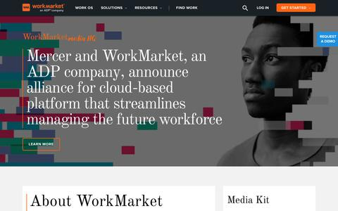 Screenshot of Press Page workmarket.com - WorkMarket Press Releases and News - captured May 31, 2018