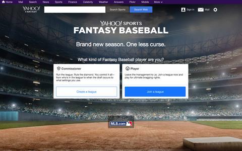 Screenshot of Signup Page yahoo.com - Fantasy Baseball   Yahoo Sports - captured June 3, 2017