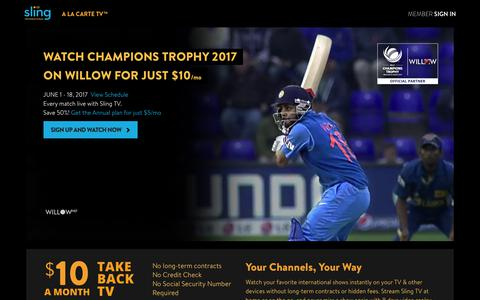 Sling TV | Watch Live International Cricket in HD on the Top International TV provider in the US