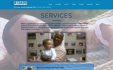 Screenshot of Services Page aboutdads.org - aboutdads - captured Nov. 24, 2016