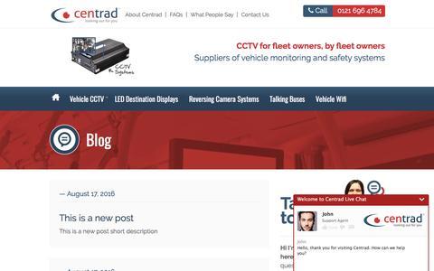 Screenshot of Blog centrad.co.uk - Centrad :: Blog - captured May 15, 2017
