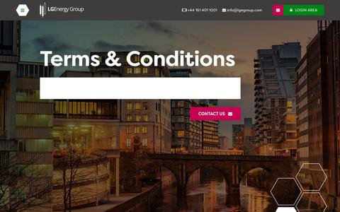 Screenshot of Terms Page lgegroup.com - Terms & Conditions | LGEnergy Group - captured Sept. 25, 2018