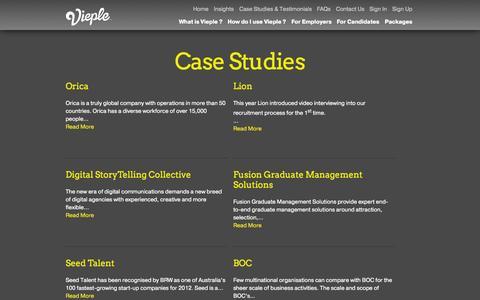 Screenshot of Case Studies Page vieple.com - Case Studies | Vieple - captured Oct. 26, 2014