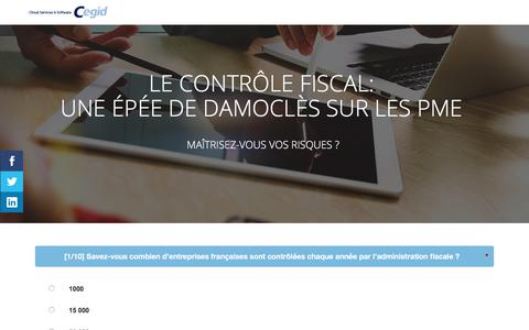 Screenshot of Landing Page cegid.com - Le contrôle fiscal : maîtrisez-vous vos risques ? - captured Oct. 4, 2017