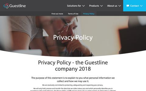 Screenshot of Privacy Page guestline.com - Privacy Policy - captured May 29, 2018
