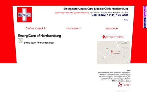 Screenshot of Services Page emergicares.com - Emergicare Urgent Care Medical Clinic Harrisonburg Occupational Care Minor Surgery Bridgewater - Services - captured Oct. 2, 2014