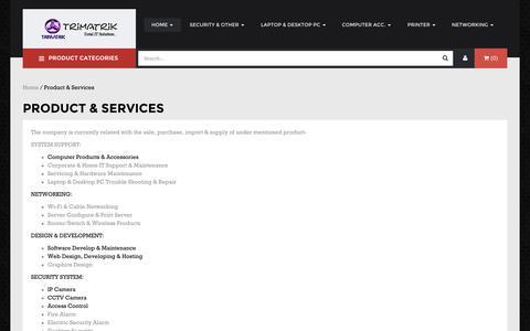 Screenshot of Services Page trimatrikbd.com - Trimatrik Multimedia - captured Oct. 8, 2014