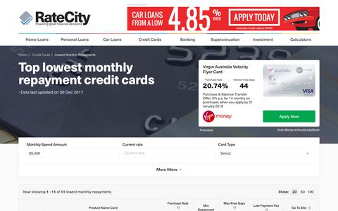 Top 2018 – Low Monthly Repayment Credit Cards | RateCity