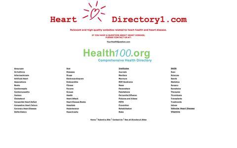 Screenshot of Home Page heartdirectory1.com - Heart Health Directory | www.HeartDirectory1.com - captured June 23, 2016