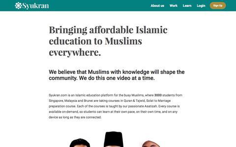 Screenshot of About Page syukran.com - About us | Syukran.com - captured June 19, 2017