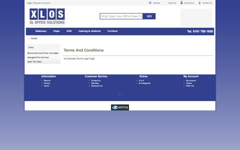 Screenshot of Terms Page xlos.co.uk - Legal Documents - captured Oct. 4, 2014