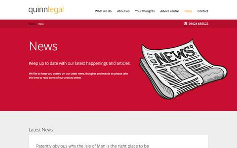 Screenshot of Press Page quinnlegal.im - Latest legal news from : Quinn Legal - captured Sept. 30, 2014