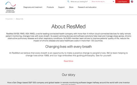 ResMed corporate and utilities : About ResMed