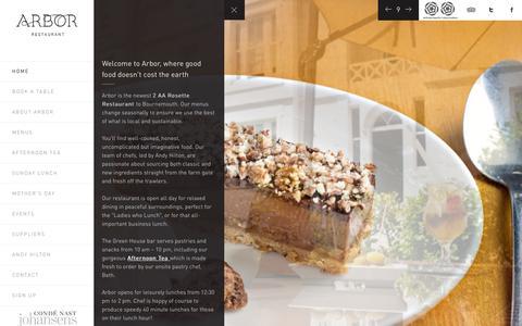 Screenshot of Home Page arbor-restaurant.co.uk - Best Restaurant In Bournemouth | Top Restaurant in Bournemouth Arbor Restaurant - captured Feb. 21, 2016
