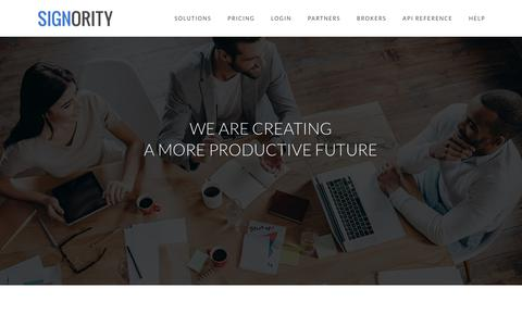 Screenshot of Jobs Page signority.com - Careers | Signority eSignature & Digital Signature Solutions - captured Jan. 22, 2019