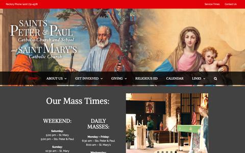 Screenshot of Home Page stspeterpaulomaha.org - Saints Peter and Paul Catholic Church - St Marys Catholic Church - Omaha, Nebraska - Sts. Peter and Paul Church - captured Dec. 2, 2018