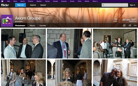 Screenshot of Flickr Page flickr.com - Flickr: groupeaxiom's Photostream - captured Oct. 23, 2014