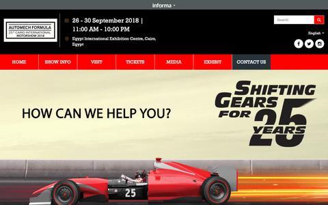 Screenshot of Contact Page automech-formula.com - Automech - Formula - captured Sept. 27, 2018