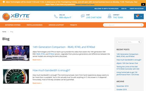 Screenshot of Blog xbyte.com - Blog - captured Nov. 17, 2018
