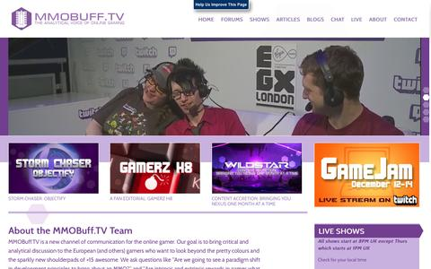 Screenshot of About Page mmobuff.tv - About the MMOBuff.TV Team | MMOBuff.TV - captured Oct. 3, 2014