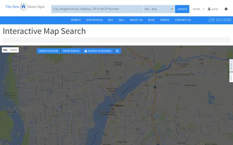 Screenshot of Maps & Directions Page thenewhomespot.com - Residential in All Cities - captured June 15, 2017
