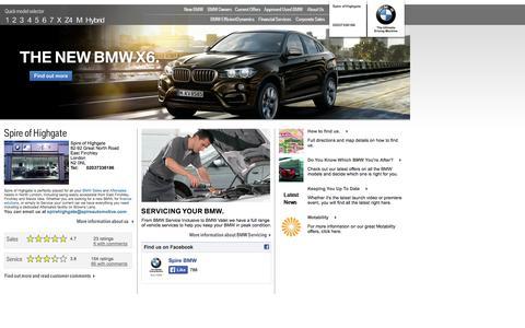 Screenshot of Home Page spirehighgatebmw.co.uk - Spire of Highgate - East Finchley | Authorised BMW Dealer - captured Jan. 23, 2015
