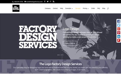 Screenshot of Services Page thelogofactory.com - Design Services | Logos, Branding & Identity - captured Jan. 15, 2016