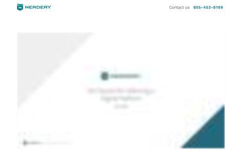 Screenshot of Landing Page nerdery.com - | Nerdery - captured Sept. 29, 2018