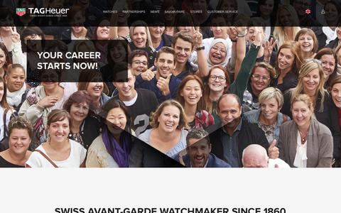 Screenshot of Jobs Page tagheuer.com - Homepage - TAG Heuer - Human Resources - captured Sept. 20, 2018