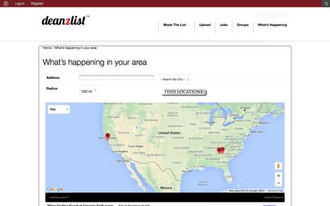 Screenshot of Maps & Directions Page deanzlist.com - What's happening in your area - captured Feb. 9, 2016