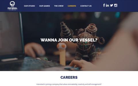 Screenshot of Jobs Page oldskullgames.com - Careers | Old Skull Games - captured Dec. 6, 2016