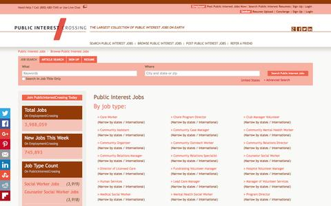 Screenshot of Jobs Page publicinterestcrossing.com - Public Interest Jobs, Browse Jobs in Public Interest By Job Type, City, State in United States   PublicInterestCrossing.com - captured Dec. 14, 2015