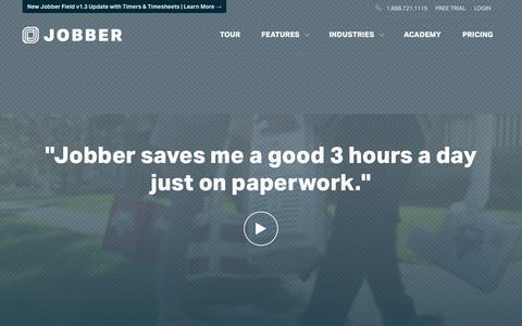 Screenshot of Home Page getjobber.com - Service Business Scheduling Software | Jobber - captured Nov. 5, 2015