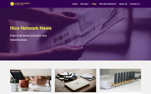 Screenshot of Blog nicenetwork.uk - News. Latest Stories, Events & Analysis. Nice Network - captured Nov. 20, 2018