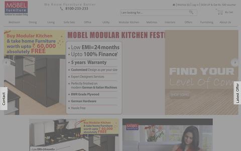 Screenshot of Home Page mobelhomestore.com - Furniture Online - Buy Furniture Online India - MobelHomeStore - captured Jan. 14, 2016