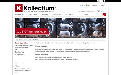 Screenshot of FAQ Page Terms Page kollectium.com - Kollectium - Customer Service - captured Nov. 27, 2016