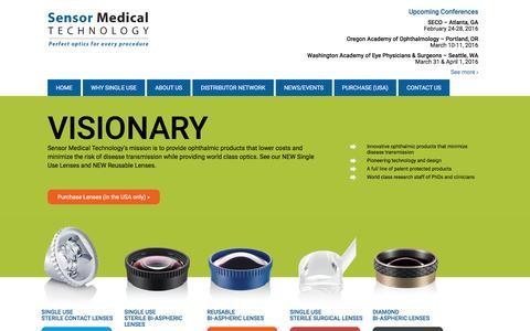 Screenshot of Home Page sensormedtech.com - Home - Sensor Medical Technology - captured Feb. 21, 2016