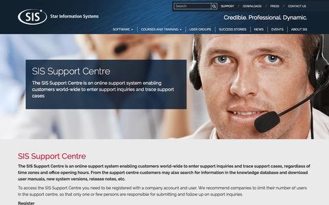 Screenshot of Support Page sismarine.com - Support | SIS - captured Nov. 4, 2014