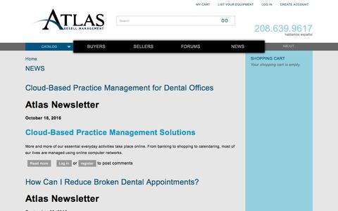 Screenshot of Press Page atlasresell.com - News | Atlas Resell Management - captured Nov. 21, 2016