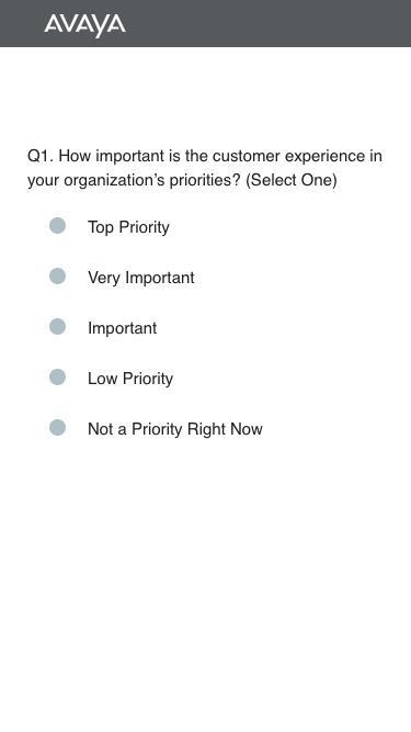 Avaya   Digital Transformation Readiness Survey