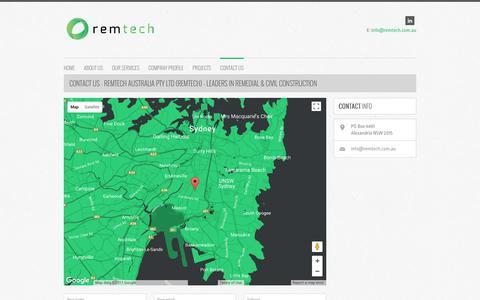 Screenshot of Contact Page remtech.com.au - RemTech Australia Pty Ltd (Remtech) | RemTech - captured Nov. 8, 2017