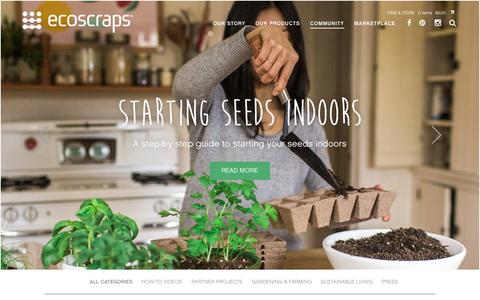 Screenshot of Blog ecoscraps.com - EcoScraps - Blog - captured Feb. 11, 2016