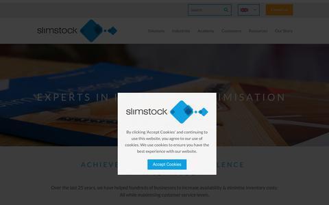 Screenshot of Privacy Page slimstock.com - Inventory Management Solutions - Slimstock - captured Jan. 12, 2018